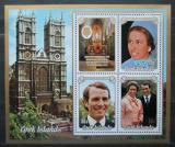 Poštovní známky Cookovy ostrovy 1973 Královská svatba Mi# Block 30