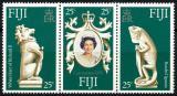 Poštovní známky Fidži 1978 Korunovace královny Alžběty II. Mi# 372-74