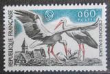 Poštovní známka Francie 1973 Čáp bílý Mi# 1831
