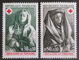 Poštovní známky Francie 1973 Červený kříž, sochy Mi# 1859-60