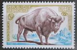 Poštovní známka Francie 1974 Zubr evropský Mi# 1874