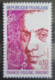 Poštovní známka Francie 1974 Francis Poulenc, skladatel Mi# 1882