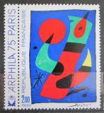 Poštovní známka Francie 1974 Umění, Joan Miró Mi# 1885