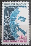 Poštovní známka Francie 1974 Jules Barbey d Aurevilly, básník Mi# 1896