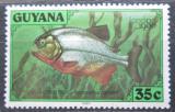 Poštovní známka Guyana 1980 Piraňa obecná Mi# 586
