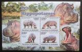 Poštovní známky Burundi 2011 Hroši Mi# Block 152 Kat 9.50€