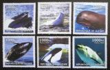 Poštovní známky Guinea-Bissau 2002 Velryby a kosatky Mi# N/N