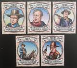 Poštovní známky Burundi 2013 John Wayne Mi# 3043-47 Kat 9.90€