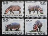Poštovní známky Burundi 2011 Hroši Mi# 1986-89 Kat 9.50€