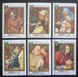 Poštovní známky Manáma 1969 Umění, vánoce Mi# 217-22
