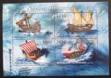 Poštovní známky Burundi 2012 Středověké plachetnice Mi# 2858-61 Kat 10€