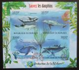 Poštovní známky Burundi 2012 Delfíni neperf. Mi# 2610-13 B