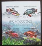 Poštovní známky Burundi 2012 Ryby neperf. Mi# 2778-81 B