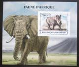 Poštovní známka Burundi 2013 Africká fauna neperf. Mi# Block 366 B