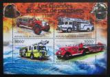 Poštovní známky Burundi 2012 Hasičská auta Mi# 2898-2901 Kat 10€