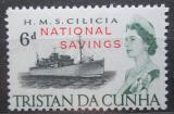 Poštovní známka Tristan da Cunha 1970 Loď Cilicia přetisk, fiskální Mi# 1