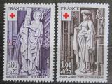 Poštovní známky Francie 1976 Červený kříž, sochy Mi# 2001-02