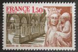 Poštovní známka Francie 1977 Socha Mladá žena s dítětem Mi# 2034