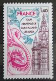 Poštovní známka Francie 1977 Opatský kostel Saint-Amand-les-Eaux Mi# 2045