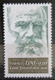 Poštovní známka Francie 1978 Lev Tolstoj, spisovatel Mi# 2093