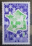 Poštovní známka Francie 1978 Mapa Francie jako puzzle Mi# 2072