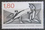 Poštovní známka Francie 1981 MS v šermu Mi# 2273