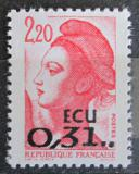Poštovní známka Francie 1988 Svoboda, Eugene Delacroix přetisk Mi# 2666