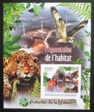 Poštovní známka Burundi 2012 Africká fauna neperf. Mi# Block 247 B