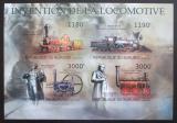 Poštovní známky Burundi 2012 Staré parní lokomotivy neperf. Mi# 2938-41 B