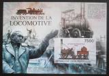 Poštovní známka Burundi 2012 Staré parní lokomotivy neperf. Mi# Block 312 B