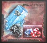 Poštovní známka Burundi 2012 Minerály neperf. Mi# Block 250 B