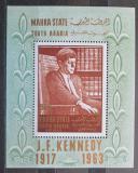 Poštovní známka Aden Mahra 1967 John F. Kennedy Mi# Block 1 Kat 12€