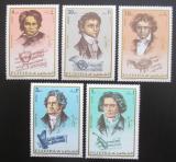 Poštovní známky Fudžajra 1971 Ludwig van Beethoven Mi# 732-36