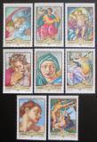 Poštovní známky Adžmán 1970 Umění, Michelangelo Mi# 516-23