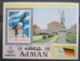 Poštovní známka Adžmán 1971 LOH Mnichov, skok o tyči Mi# Block 247 Kat 8€