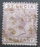 Poštovní známka Svatá Lucie 1886 Královna Viktorie Mi# 20 II