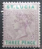 Poštovní známka Svatá Lucie 1886 Královna Viktorie Mi# 26 II