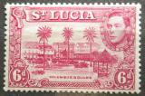 Poštovní známka Svatá Lucie 1938 Náměstí v Castries Mi# 108 Aa