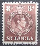 Poštovní známka Svatá Lucie 1946 Král Jiří VI. Mi# 109 C