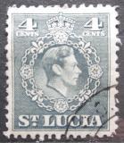 Poštovní známka Svatá Lucie 1949 Král Jiří VI. Mi# 123 A