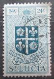 Poštovní známka Svatá Lucie 1949 Státní znak Mi# 129
