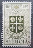 Poštovní známka Svatá Lucie 1949 Státní znak Mi# 130