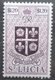 Poštovní známka Svatá Lucie 1949 Státní znak Mi# 131 Kat 5€