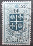 Poštovní známka Svatá Lucie 1954 Státní znak Mi# 155