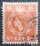 Poštovní známka Svatá Lucie 1954 Královna Alžběta II. Mi# 151