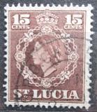 Poštovní známka Svatá Lucie 1954 Královna Alžběta II. Mi# 154