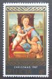 Poštovní známka Svatá Lucie 1967 Vánoce, umění, Raffaello Santi Mi# 219