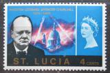 Poštovní známka Svatá Lucie 1966 Winston Churchill Mi# 190