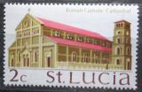 Poštovní známka Svatá Lucie 1970 Římsko-katolická katedrála Mi# 254 X