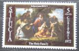 Poštovní známka Svatá Lucie 1972 Vánoce, umění Mi# 316